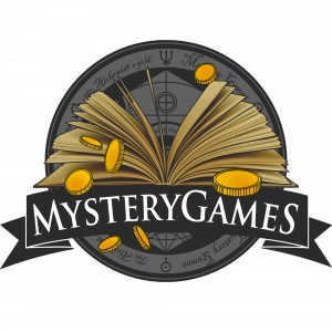 Logo: escape rooms MYSTERYGAMES Budapest